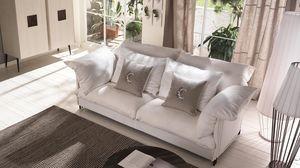Tango sofà, Sofá con estructura de metal, revestimiento personalizable