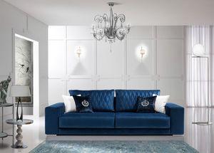 TESLA, Sofá de estilo contemporáneo apto para todos los ambientes.