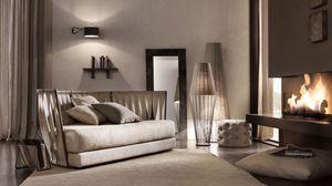 Twist sofà, Sofá con estructura de hierro, de nuevo con correas de cuero