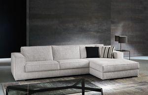 Vision, Sofá con la tela completamente desmontable, para sala de estar