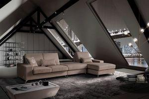 VOJAGER, Sofá moderno, modular, con tapizado extraíble