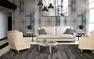 W02S, Sofá hecho a mano para sala de estar