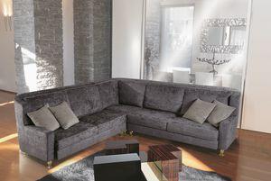 W02E + W02C, Sofá modular tapizado con tela elegante