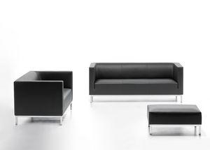 Argo 02 03, Sofá elegante en piel sintética, para sala de espera