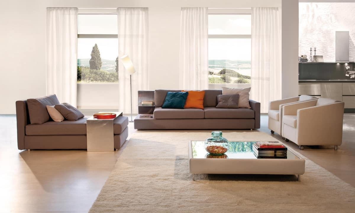 Brio, Sofá con diferentes tamaños, para salas de espera y oficinas