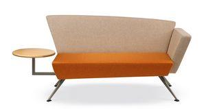 CORNER C2DT, Sofá de la recepción, con mesa integrada