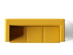 DEXTER, Sofá 3 plazas con patas cromadas