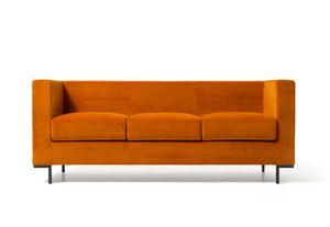Hall 3p, Sofá para áreas salones modernos, con los pies de aluminio