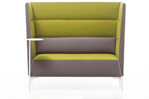 Kendo sofá de respaldo alto, Sofá ideal para el aislamiento acústico, con respaldo alto