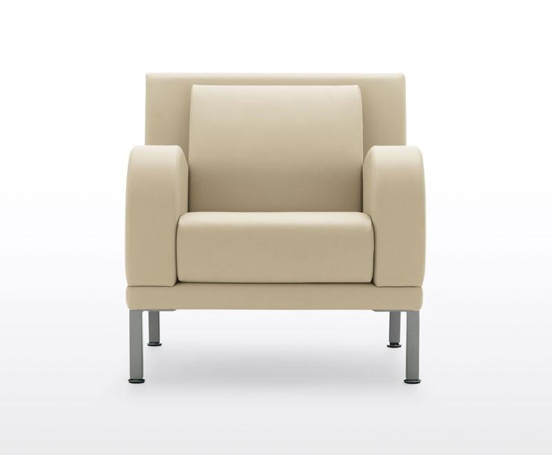 Kristall, 3 plazas sofá con los pies de acero, para salas de espera