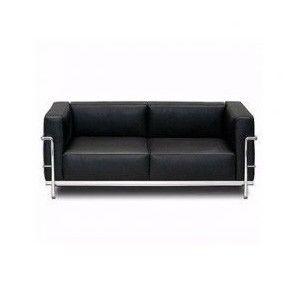 LC2, Sofá moderno con estructura de acero cromado