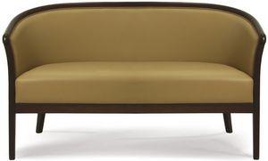 Lione D, Sofá de madera pintada, para oficinas y salas de espera