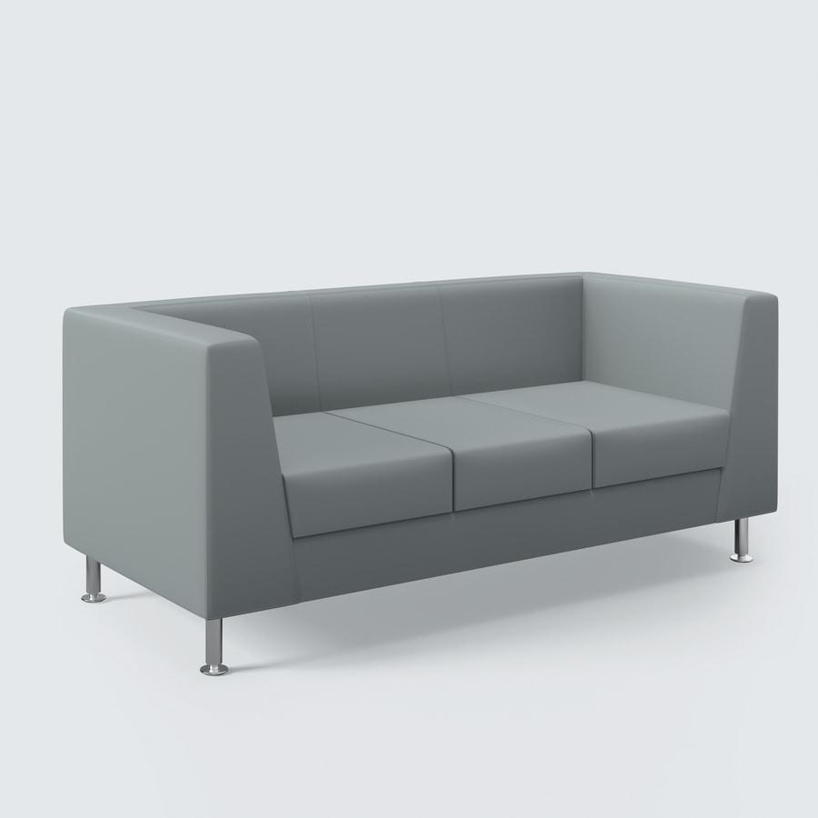 NAXOS, Sofá con un diseño limpio, acabados de alto nivel, para la sala de estar y oficina