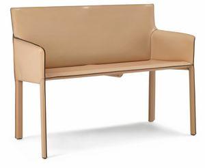 Pasqualina pequeño sofá 10.0094, Sofá pequeño para sala de espera.