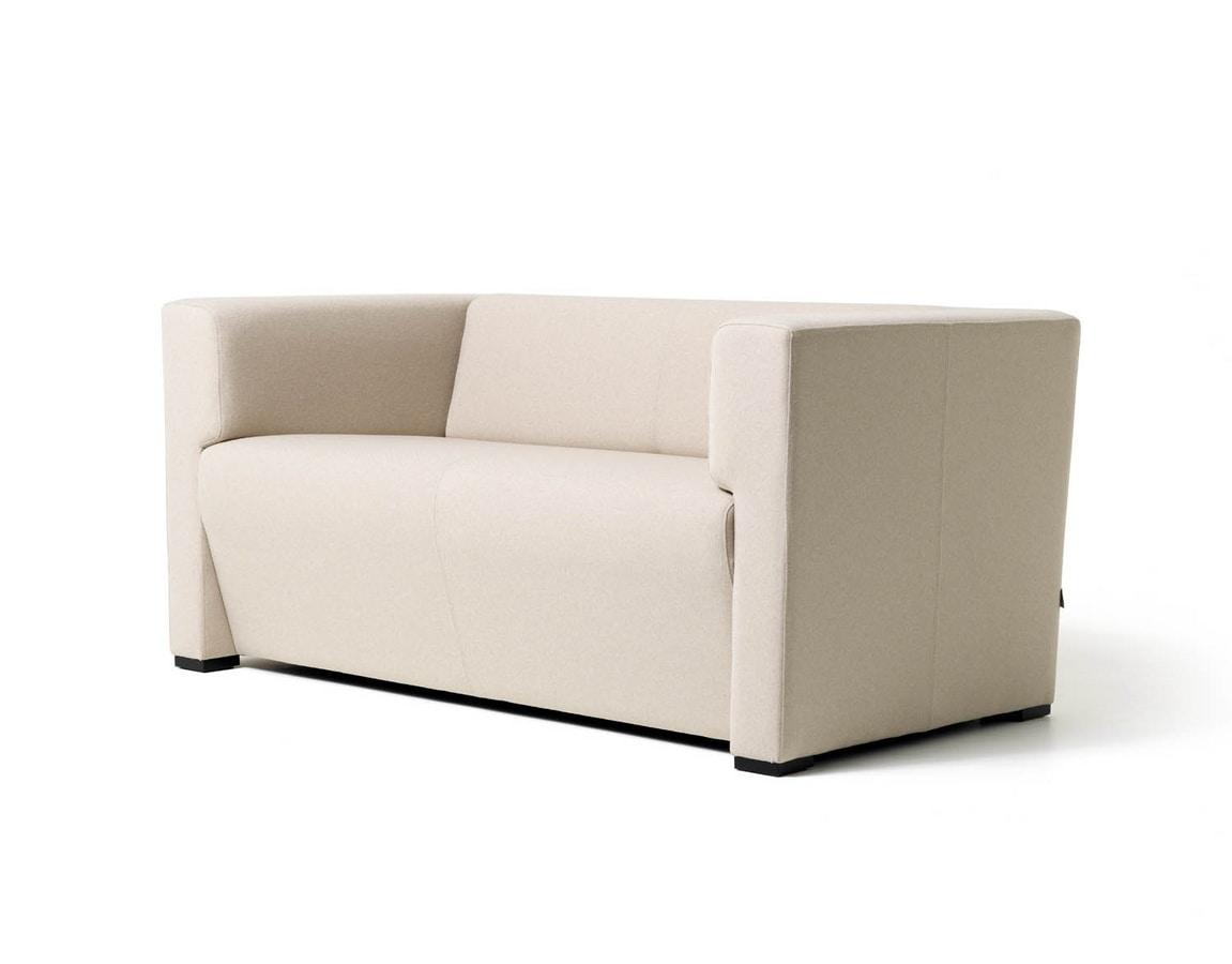Toffee 2p, Sofá lineal con 2 asientos para salas de espera