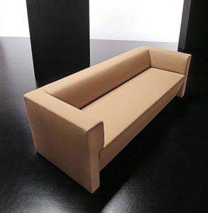 Toffee 3p, Simples modernos sofá de 3 plazas, con marco de madera