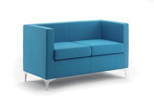 UF 164, Mullido sofá con pies de metal, elegante y versátil
