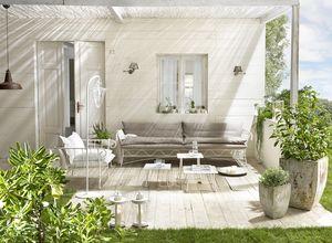 Bahamas sofá, Sofá al aire libre, metal común, cubierta de lino