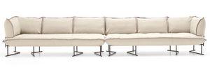 Colorado divano componibile, Sofá modular, con base metálica, para piscinas y terrazas