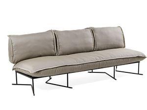 Colorado divano 3P, Gran sofá de base de acero, con cómodas almohadas