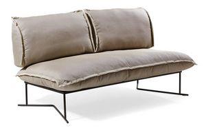 Colorado sofá 2p, Sofá con base en metal tratado, para uso en exteriores