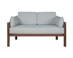 Dual 0286, Sofá de madera de teca con tejido de paja viena