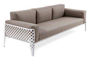 Pois sofá 3p, Sofá con base de acero, recubierto en varios colores