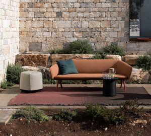 Tuile sofa, Sofá de 2 o 3 plazas, en materiales resistentes a la intemperie