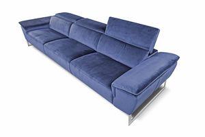 Bel Air, Sofá de tela con respaldo ajustable