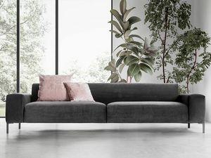 Boston liscio, Sofá cómodo, con un diseño refinado