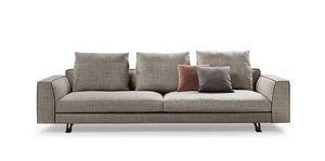 Burton, Sofá de diseño con almohadas de pluma de ganso