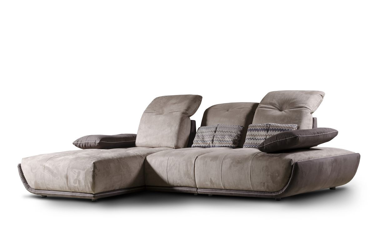 Sof con chaise longue respaldo reclinable idfdesign - Chaise longue pequeno ...
