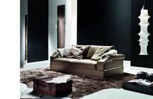 Dandy, Sofá con inserciones metálicas decorativas