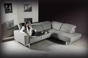 Dodo, Sofá de esquina tapizado en tela