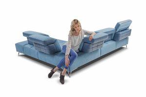 Galaxy, Sofá de esquina con respaldo ajustable