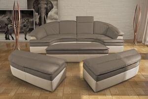 Galaxy, Sofá modular de cuero, bicolor