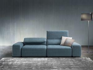 Gogò, Sofá con tapicería totalmente desmontable, con un diseño contemporáneo