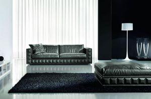 Gordon Plus, Sofá refinado y elegante, con cojines extraíbles