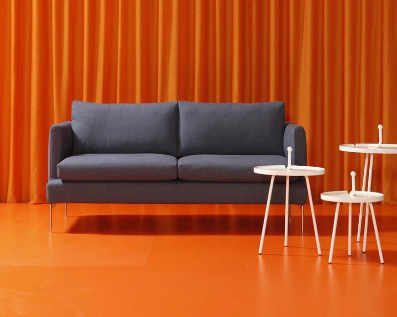 2 plazas sofá, un marco de madera, cubierta desmontable en tela o ...