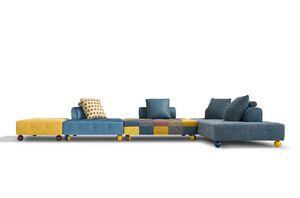 L'ego, Sofá de diseño modular, funcional y versátil.