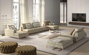 Louis, Sofá de diseño minimalista.