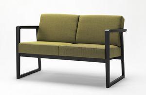 Pod sofa, Sofá con estructura de madera