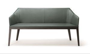 ROCK SOFA 020 D, Sofá moderno, con patas de madera maciza.