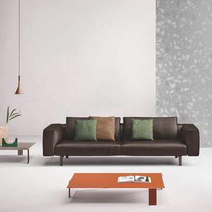 Todd, Sofá moderno en cuero o tela