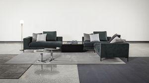Tyler, Sofá moderno con respaldo de pluma de ganso