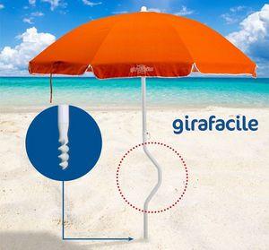 Sombrilla de playa patentada Girafacile – GF200COT, Protección solar máxima Paraguas para la playa