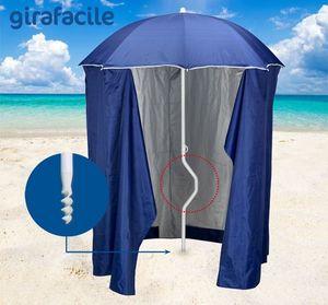 Sombrilla de playa patentada Girafacile – GF200TUV, Sombrilla de playa con la tienda para las playas