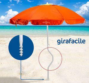Sombrilla de playa patentada Girafacile – GF200UVA, Sombrilla de playa fácil montaje