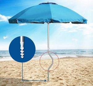 Girafacile paraguas patentado – GF22ALUV, Paraguas de aluminio, resistentes al viento, para playas