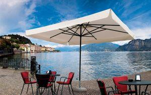 Napoli standard, Parasol para el quiosco, marco de aluminio, de peso ligero